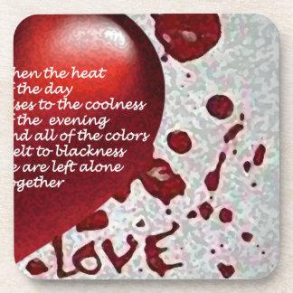 Love's Heat Beverage Coaster
