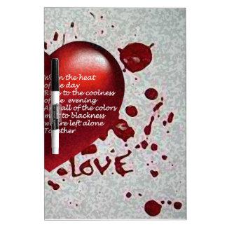 Love's Heat Dry Erase Board