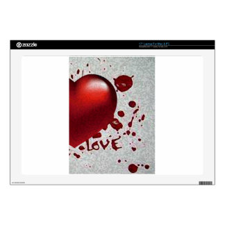 """Love's Heat Image Only Decal For 17"""" Laptop"""