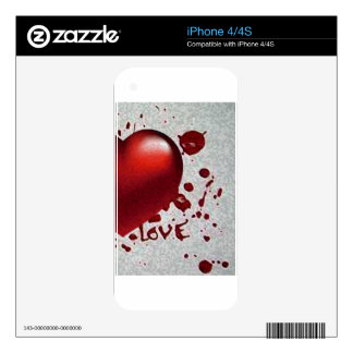 Love's Heat Image Only Decals For The iPhone 4S