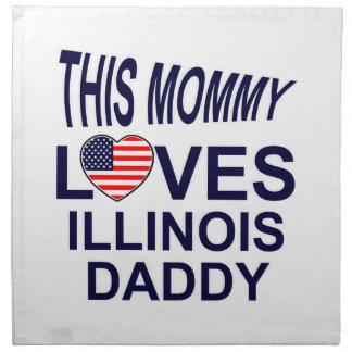 loves Illinois daddy Napkin