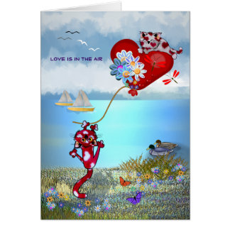 Love's in the Air Greeting Card