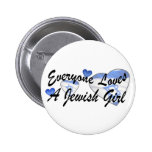 Loves Jewish Girl Button