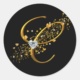 Love's Magic C monogram Classic Round Sticker