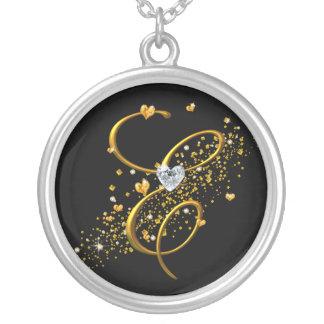 Love's Magic E inital Round Pendant Necklace