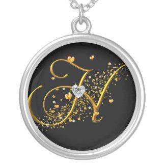 Love's Magic H Inital Round Pendant Necklace