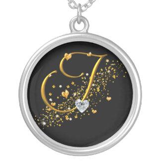 Love's Magic I Inital Round Pendant Necklace