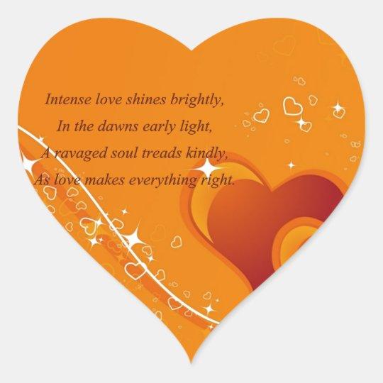 Love's Majesty Heart Sticker