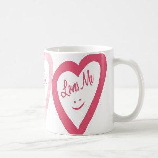 Loves Me Classic White Coffee Mug