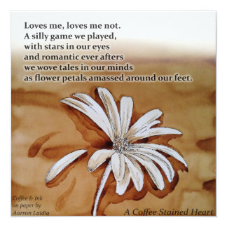 Loves Me, Loves Me Not Coffee & Ink Card