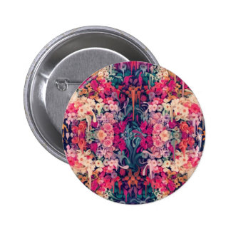 Loves me maybe melting floral pattern pinback button