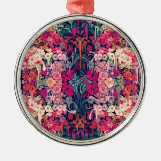 Loves me maybe, melting floral pattern metal ornament