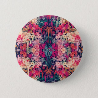 Loves me maybe, melting floral pattern pinback button