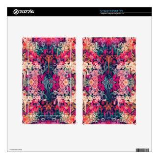 Loves me Maybe melting floral pattern Skins For Kindle Fire
