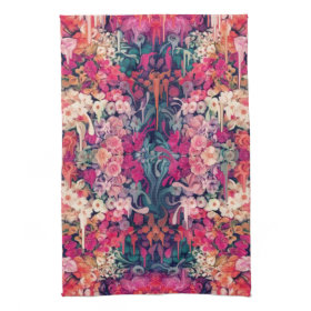 Loves me Maybe, melting floral pattern Towels