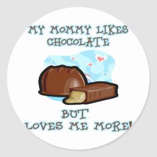 Loves-me-more Classic Round Sticker