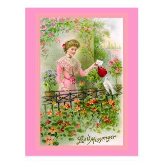 """""""Love's Messenger"""" Vintage Valentine Postcard"""