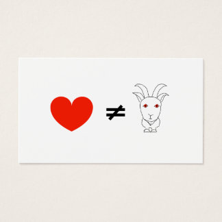 Love's No Billy-Goat Business Card