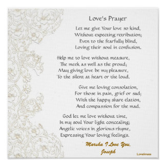 Love's Prayer Poster-Customize Poster