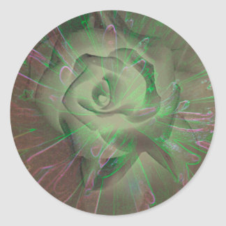Love's Radiating Aura Classic Round Sticker