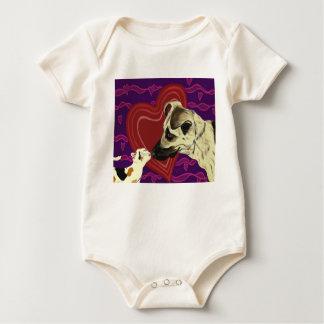 Love's Reach infant creeper white