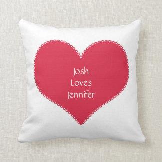 Loves Red Heart Room Pillow