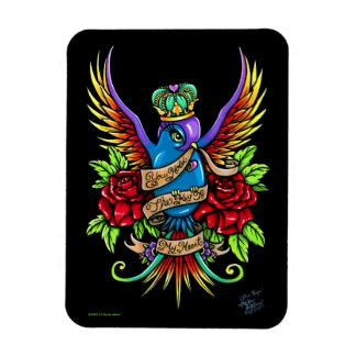 Loves Reign Rainbow Swallow Tattoo Art Magnet