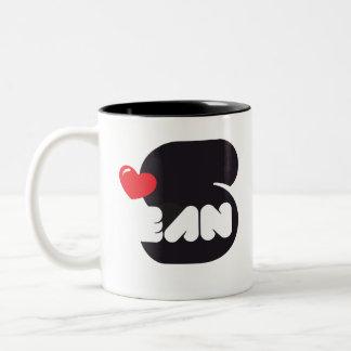 Loves Sean Coffee Cup Taza De Dos Tonos