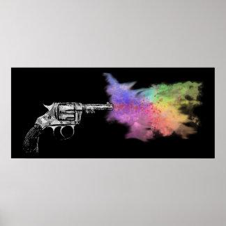 love's smokin' gun : rainbow : poster
