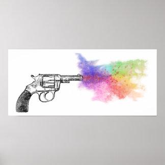love's smokin' gun : rainbow : print