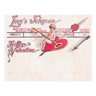 Love's Telegram Postcard