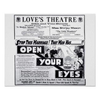Love's Theatre 1920 vintage movie ad poster