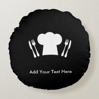 Loves to Cook Kitchen or Restaurant Round Pillow