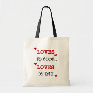 Loves to Cook Loves to Eat T-shirts and Gifts Canvas Bag