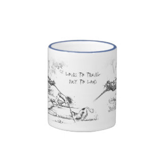 """Loves to Travel Easy to load"" JudeToo LB02 mug"