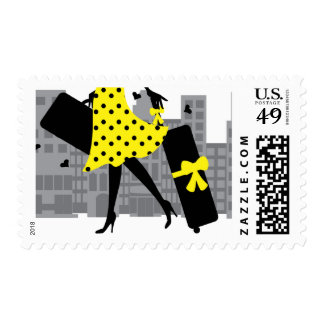 Loves to Travel Postage Stamp
