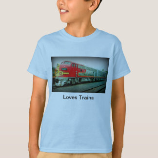 Loves Trains Children's T-Shirt