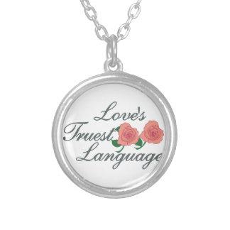 Love's Truest Language Round Pendant Necklace