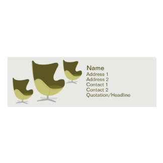 Loveseat - Skinny Double-Sided Mini Business Cards (Pack Of 20)