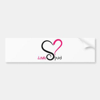 LoveSpud Branded Designer Logo Bumper Sticker