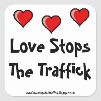 LoveStopsTheTraffick Stickers