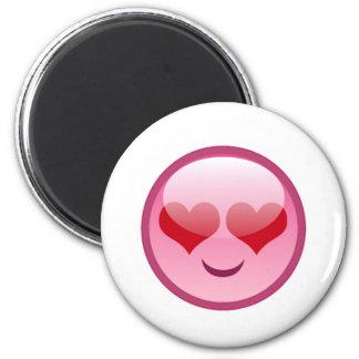 Lovestruck Happy Face Refrigerator Magnet