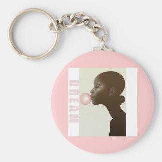lovething, dream basic round button keychain