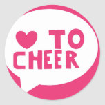 lovetocheer classic round sticker