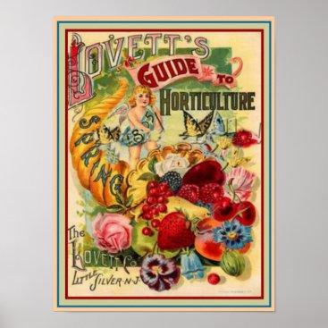 Art Themed Lovett's 1895 Horticulture Guide 12x16 Poster