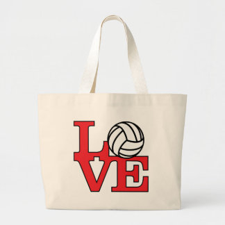 LoveVB-red Large Tote Bag