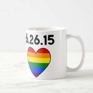 #LOVEWINS CELEBRATE GAY MARRIAGE. RAINBOW HEART COFFEE MUG