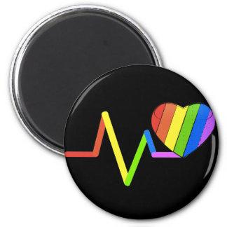 #LoveWins del tributo de Orlando del pulso de LGBT Imán Redondo 5 Cm