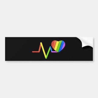 #LoveWins del tributo de Orlando del pulso de LGBT Pegatina Para Auto