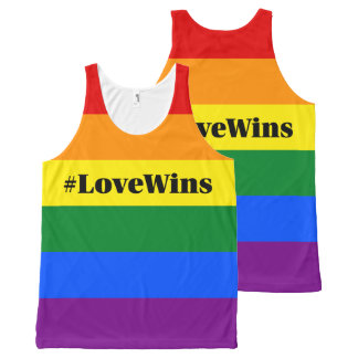 #LoveWins Marriage Equality Celebration Rainbow All-Over-Print Tank Top